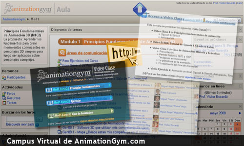Aula virtual de AnimationGym